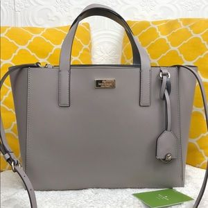 🌸OFFERS?🌸Kate Spade Leather Gray Satchel
